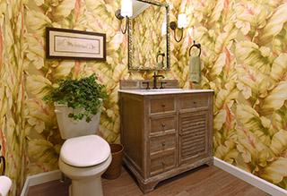 Custom bathroom design by Gina Paris