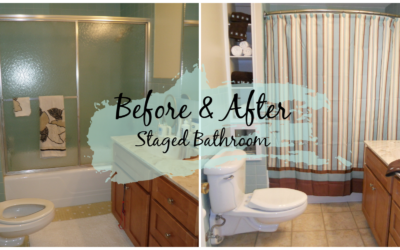 Bathroom Staging Before and After