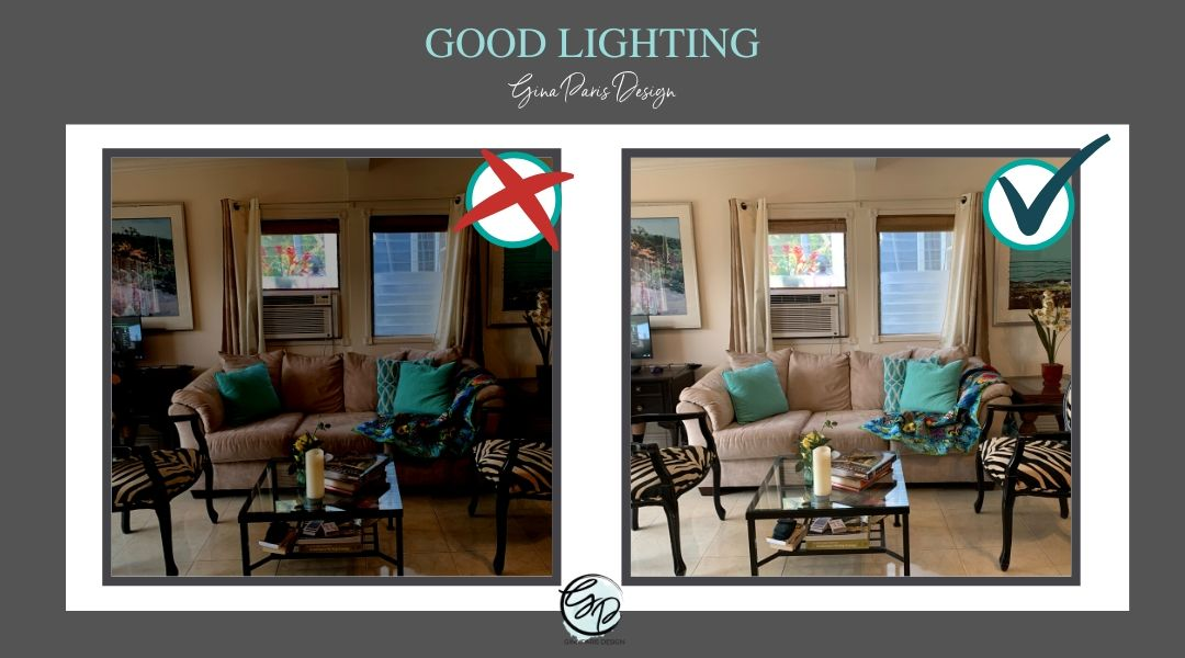 It's important to have properly lit rooms. Adjust the lighting by tapping the screen and sliding the sun icon up or down.