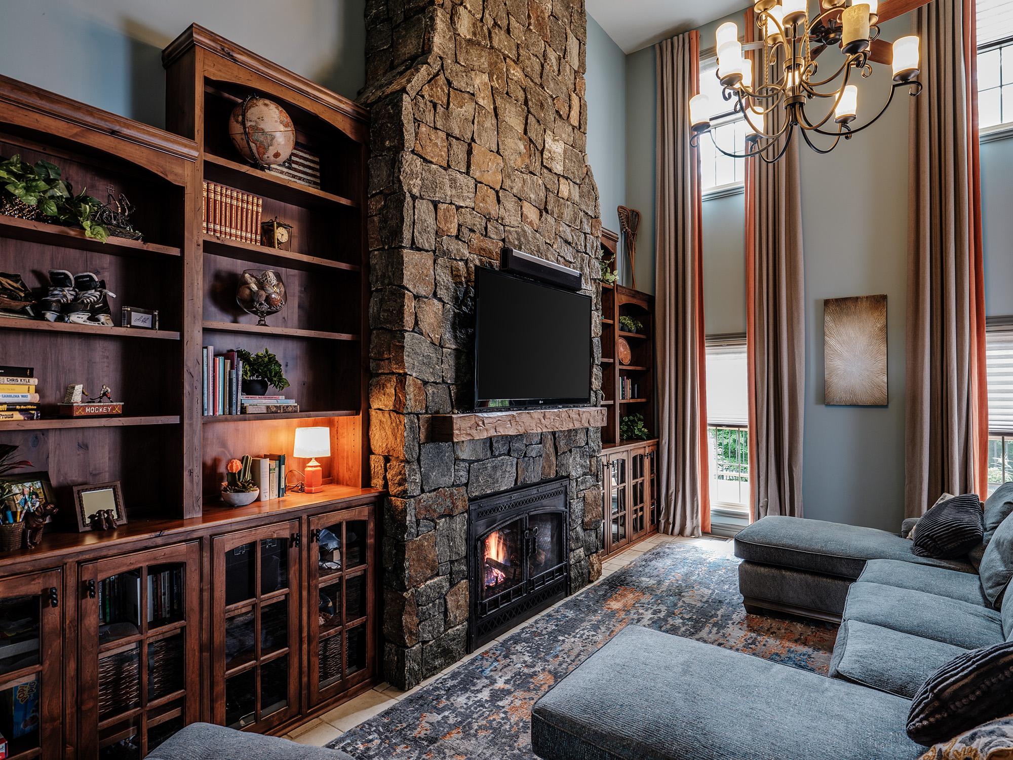 Fireplace design by Gina Paris